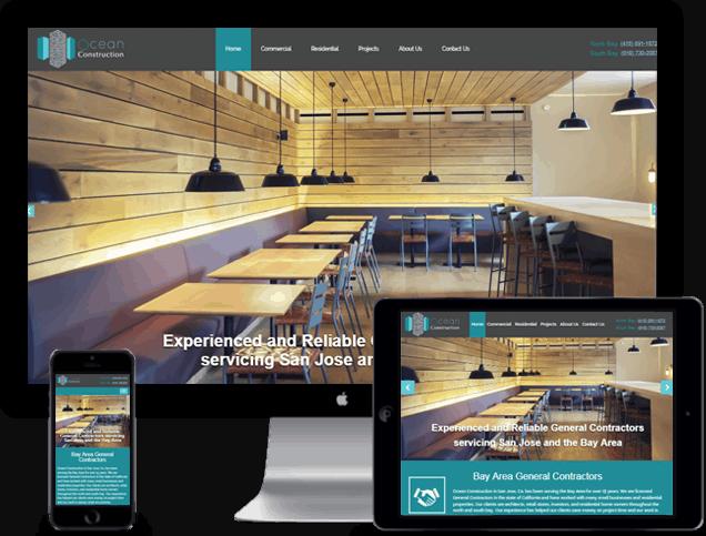 General Contractor Website Design In San Jose Ca Ocean Construction